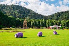 Parque temático aborígene Formosan da vila da cultura em Nantou County, Taiwan imagem de stock
