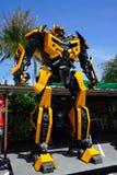 Parque temático de aço reciclado dos robôs do metal na mostra animal de Hua Hin Tique: Transfromer do zangão Fotos de Stock Royalty Free
