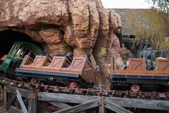 Parque temático de Disneyland Resort em Anaheim, Califórnia fotos de stock royalty free
