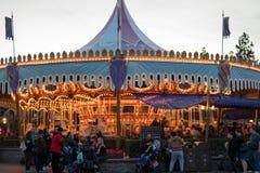 Parque temático de Disneyland Resort em Anaheim, Califórnia fotografia de stock
