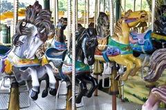 Parque temático do carrossel fotografia de stock