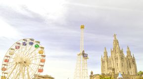 Parque temático en Barcelona fotos de archivo libres de regalías
