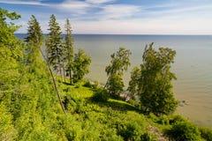 Parque Toila-Oru - visión en el SeaToila báltico, Estonia Fotografía de archivo