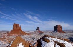 Parque tribal del indio de Navajo del valle del monumento, invierno Imágenes de archivo libres de regalías