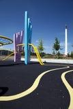Parque urbano colorido de Copenhaga do campo de jogos fotografia de stock