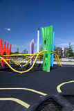Parque urbano colorido de Copenhague del patio Imagen de archivo libre de regalías