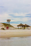 Parque vazio da praia Fotografia de Stock