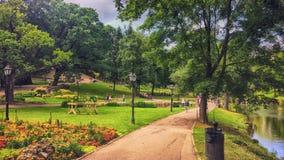 Parque verde enorme fotografía de archivo