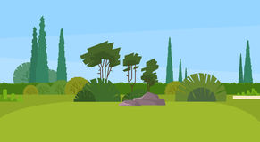 Parque verde Forest Outdoor Nature Landscape Imágenes de archivo libres de regalías