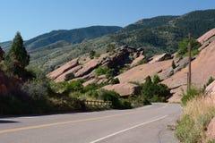 Parque vermelho Colorado de Rocls Foto de Stock Royalty Free