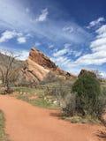 Parque vermelho do anfiteatro da rocha fotos de stock