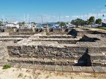 Parque viejo del fuerte en la nueva playa de Smyrna Imagenes de archivo