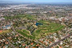 Parque y campo de golf de Encanto imagen de archivo
