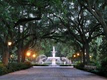 Parque y fuente Imágenes de archivo libres de regalías