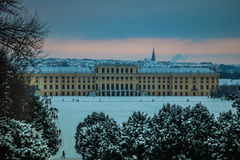 Parque y lugar Schönbrunn Viena Foto de archivo