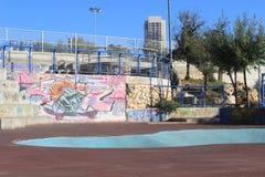 Parque y pintada del monopatín en Jerusalén, Israel Foto de archivo libre de regalías