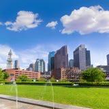 Parque y slkyline Massachusetts de Boston North End Imágenes de archivo libres de regalías