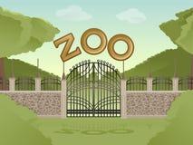 Parque zoológico ilustración del vector