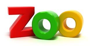Parque zoológico de la palabra con las cartas coloridas. stock de ilustración