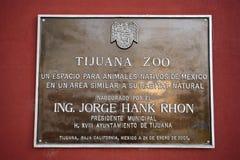 PARQUE ZOOLÓGICO de Tijuana Imagen de archivo libre de regalías