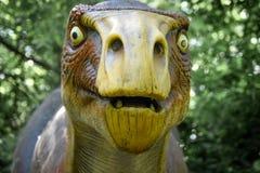 Parque zoológico del condado de Milwaukee de la cara del dinosaurio imágenes de archivo libres de regalías