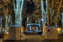 Parque Zrinjevac en tiempo del advenimiento Foto de archivo