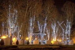 Parque Zrinjevac en tiempo del advenimiento Fotografía de archivo