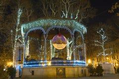 Parque Zrinjevac en tiempo del advenimiento Fotografía de archivo libre de regalías
