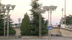 Parqueando en el aeropuerto Burgas, Bulgaria