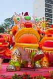 Parquee con el dragón tradicional de la decoración para el día de fiesta chino Imagenes de archivo