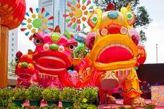 Parquee con el dragón tradicional de la decoración para el día de fiesta chino Fotografía de archivo