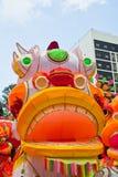 Parquee con el dragón tradicional de la decoración para el día de fiesta chino Foto de archivo libre de regalías