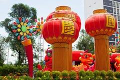 Parquee con el dragón tradicional de la decoración para el día de fiesta chino Fotos de archivo