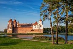 Parquee en el pueblo del MIR, región de Minsk, Bielorrusia imágenes de archivo libres de regalías