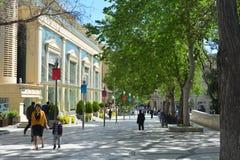 Parques da cidade de Baku, quadrado da fonte Imagem de Stock