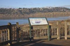 Parques de estado del río Columbia y de Oregon. foto de archivo