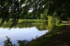 Parques e lagos de Dinamarca Imagem de Stock