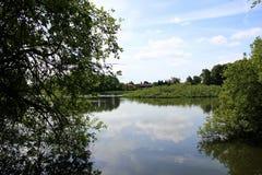 Parques e lagos de Dinamarca Foto de Stock
