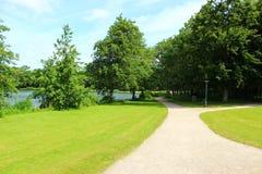 Parques e lagos de Dinamarca Imagem de Stock Royalty Free