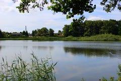 Parques e lagos de Dinamarca Fotografia de Stock Royalty Free
