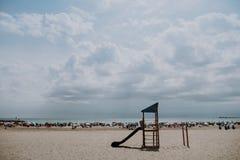 Parques espectaculares para los niños en la playa fotografía de archivo libre de regalías