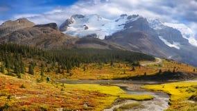 Parques nacionales canadienses en Alberta fotografía de archivo