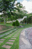 Parques públicos das estátuas e do dinossauro em KHONKEAN, TAILÂNDIA Fotos de Stock Royalty Free