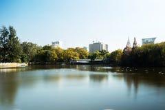 Parques verdes del lago foto de archivo libre de regalías