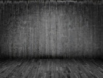 Parquet and concrete Royalty Free Stock Photography