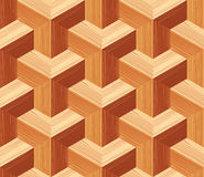 Parquet 3d Seamless Floor Pattern Royalty Free Stock Image