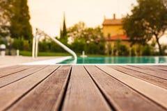 Parquet de piscine Photographie stock libre de droits