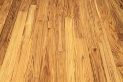 Parquet di legno del pavimento del tek solido immagine stock