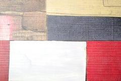 Parquet dipinto del faux come plance colorate Fotografia Stock Libera da Diritti