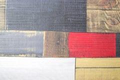Parquet dipinto del faux come plance colorate Immagini Stock Libere da Diritti